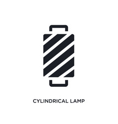 Cylindrical lamp isolated icon simple element vector