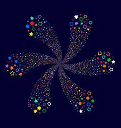 Decoration stars centrifugal explosion vector
