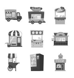 Design service and storefront logo set vector