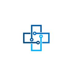 Digital medical logo icon design vector
