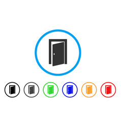 door rounded icon vector image