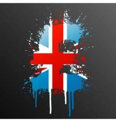 English pound grunge vector