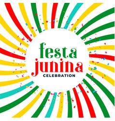 Festia junina june month brazilian festival vector