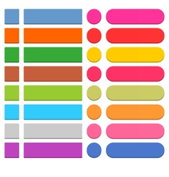 Flat blank web icon colored button vector image
