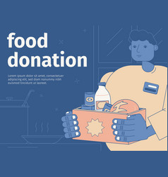 Food donation background vector