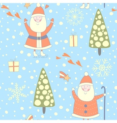Forest santa seamless pattern vector