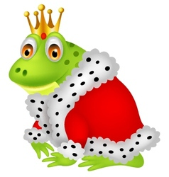 Frog king cartoon vector image