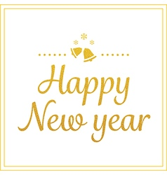 Gold happy new year greetings card vector