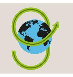 Green arrow and earth vector
