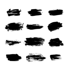 Grunge brushes background texture set vector image