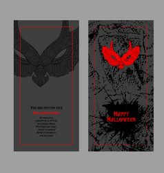 halloween design template place for your text vector image