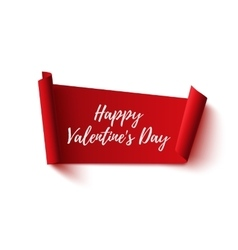 Happy Valentines Day red abstract banner vector image vector image