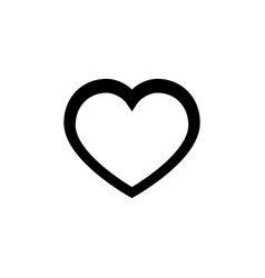 heart line icon on white background vector image