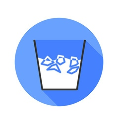 Ice bucket challenge icon long shadow vector