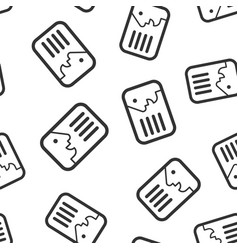 id card icon seamless pattern background identity vector image