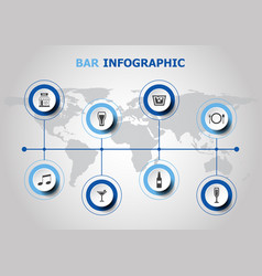 infographic design with bar icons vector image