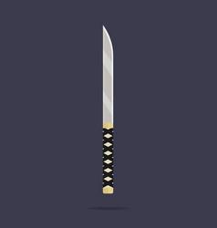 knife icon ninja weapon samurai equipment vector image