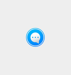Letter o bubble chat logo template vector