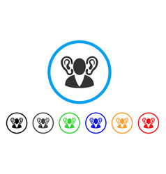 Listener rounded icon vector