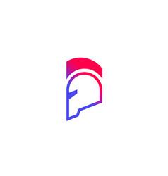 Logo with spartan helmet vector