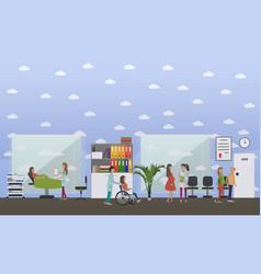 Maternity hospital concept vector