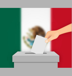 Mexico election banner background vector