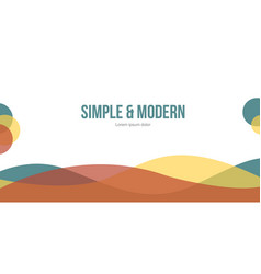Modern abstract header website design vector