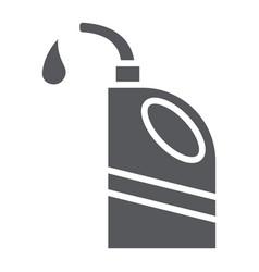 Motor oil glyph icon auto and repair oil vector