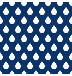 Navy Blue White Water Drops Background vector image