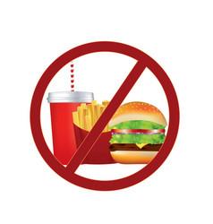 No fast food sign vector
