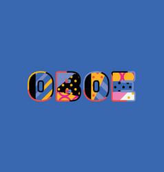 Oboe concept word art vector