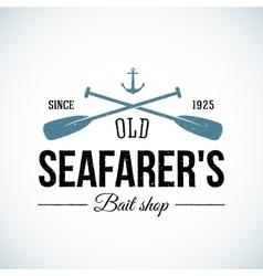 Old Seafarers Bait Shop Vintage Logo vector