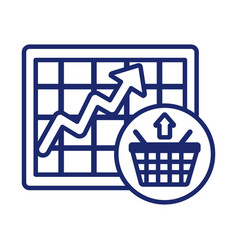 price hike with shopping basket and arrow up vector image