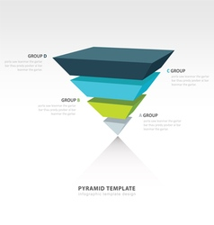 pyramid upside down infographic template 4 color vector image