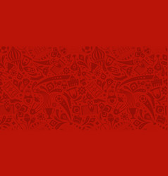 red soccer championship seamless trendy pattern vector image