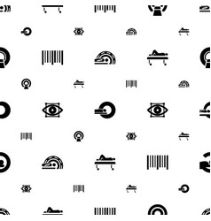 Scanner icons pattern seamless white background vector