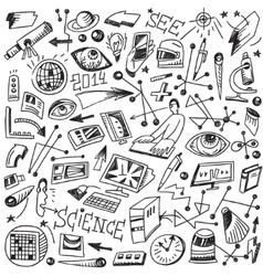 Science - doodles vector