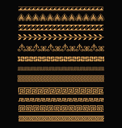 set antique greek borders vector image