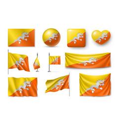 Set butane flags banners banners symbols flat vector