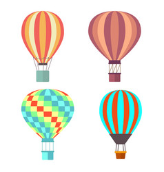 set classical balloons to travel by air vector image