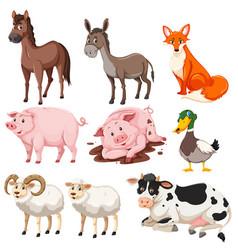 Set of farm animals vector