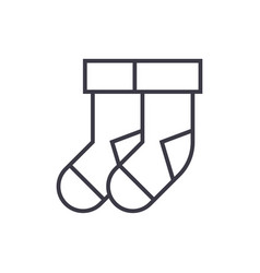socks line icon sign vector image