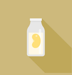 Soy milk icon in carton vector