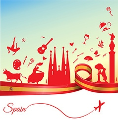 Spain background with flag and symbol vector