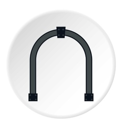 Steel arch icon flat style vector image