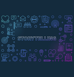 Storytelling concept colorful outline vector