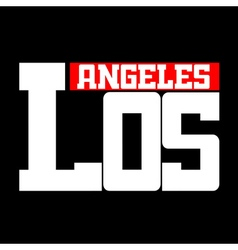 T shirt Los Angeles vector image