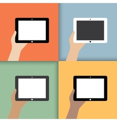 tablet in hands vector image