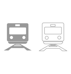 train it is black icon vector image