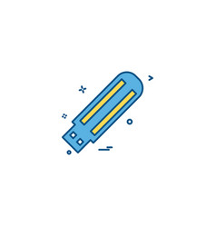 usb drive icon design vector image